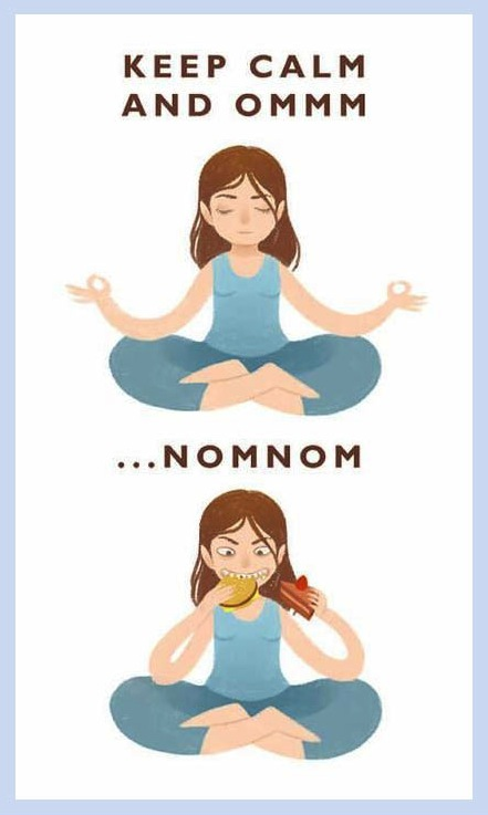 funny-meditation-eating-girl
